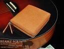 【BEAMZ SQUARE】 ビームススクエア バッファロー ダブルジップウォレット 二つ折り財布 メンズ キャメル 本革レザー BS-1679
