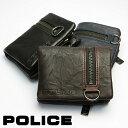 【送料無料】POLICE ポリス 小銭入れ メンズ 牛革 二つ折り財布 ショートウォレット