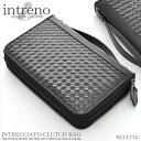 INTRENO クラッチバッグ バッグ 鞄 かばん レザー シンプル メンズ 男性用 ブラック intreno-1775