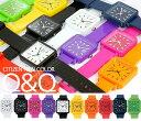 シリコン ラバー 腕時計 カラフル CITIZEN シチズン腕時計 メンズ腕時計