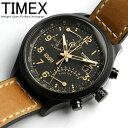 タイメックス TIMEX 腕時計 メンズ クロノグラフ インテリジェント レーシング フライバック T2N700 ミリタリー キャメル×ブラック 革ベルト レザ...
