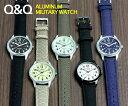 シチズンCBM Q&Q メンズ腕時計 ミリタリー ウォッチ アルミニウム
