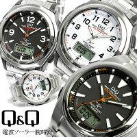 シチズンCBMQ&Q電波ソーラー信頼の品質狂わない電池要らずソーラー電波腕時計MCS1-302