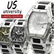 ユニバーシティ メンズ 腕時計 ステンレス ブランド 人気 アナログ表示 うでどけい ウォッチ Men's