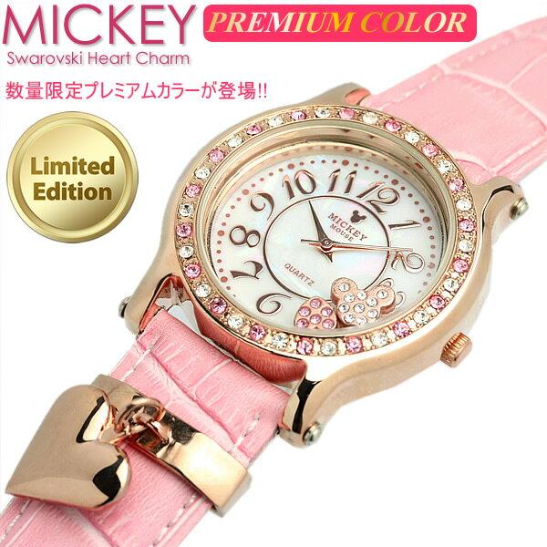 ≪限定モデル≫ ミッキー 腕時計 ミッキーマウス レディース レディス スワロフスキー キャラクター ウォッチ ミッキー 腕時計 うでどけい ladies 【Disney】Mickey Mouse
