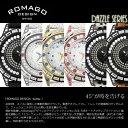 【ROMAGO/ロマゴ デザイン】 腕時計 レディース ミラーウォッチ スワロフスキー ダズルシリーズ 本革レザー スイス RM006-1477 うでどけい