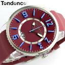 【テンデンス】【Tendence】 腕時計 ユニセックス 男女兼用 メンズ レディース スリムポップ SLIM POP TG131001 レッド ラバー 5気圧防水 MEN'S Ladies うでどけい