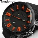 【テンデンス】【Tendence】 腕時計 メンズ ガリバースポーツ GULLIVERSPORT TT5100003 うでどけい MEN'S ウォッチ ブラック×オレンジ ラバー 10気圧防水