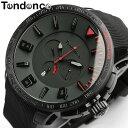【送料無料】【テンデンス】【Tendence】 腕時計 メンズ ガリバースポーツ GULLIVERSPORT TT560005 うでどけい MEN'S ウォッチ ブラック×レッド ラバー 10気圧防水