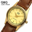 【シチズン】【CITIZEN】 腕時計 レディース レディス Q&Q ウォッチ 女性用 革ベルト レザー クォーツ VG43-100 LADIES うでどけい