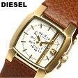 【送料無料】【ディーゼル】 【DIESEL】 腕時計 レディース DZ5296 ホワイト×ゴールド キャメル ブランド腕時計 ladies うでどけい レザー 革バンド 女性用