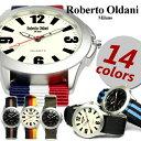 ロベルトオルダニ メンズ腕時計 レディース腕時計 MEN'S LADIES ユニセックス うでどけい ウォッチ NATO ナイロンベルト ミリタリー ブランド 人気