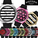 【ROMAGO】 ロマゴ デザイン 腕時計 スーパーレジャーシリーズ カレンダー スイス製 男女兼用 レディース メンズ ユニセックス RM049-0427ST...