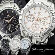 サルバトーレマーラ Salvatore Marra クロノグラフ メンズ腕時計 SM12135 ステンレス 男性用 MEN'S クォーツ うでどけい ウォッチ クロノ 10気圧防水