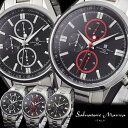 サルバトーレマーラ Salvatore Marra クロノグラフ メンズ腕時計 SM14103 ステンレス 男性用 MEN'S クォーツ うでどけい ウォッチ クロノ 10気圧防水