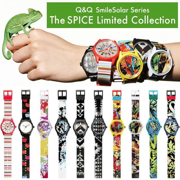 限定モデルQ&QSmileSolarスマイルソーラー腕時計メンズレディースウォッチ5気圧防水MEN'