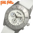 【送料無料】【フォリフォリ 】【Folli Follie】腕時計 レディース腕時計 レディス ブランド クロノグラフ シェル 女性用 クオーツ ladies WF8T006ZEW シルバー×ホワイト