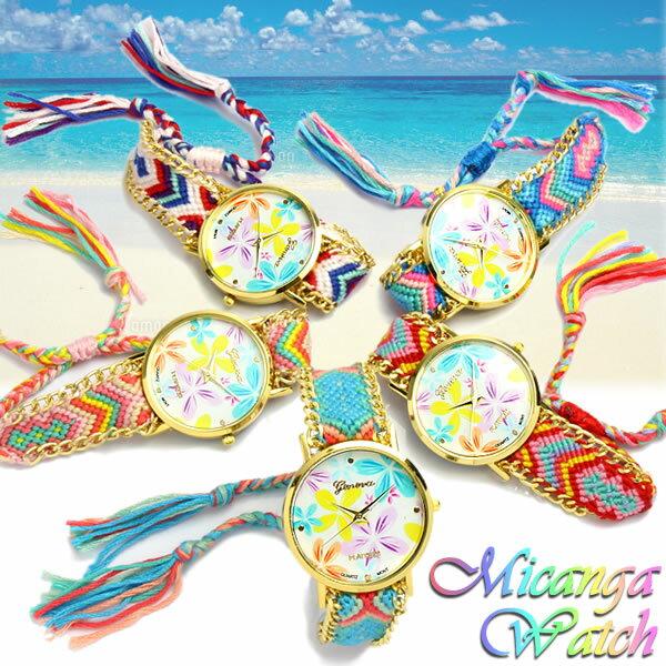ミサンガウォッチ 腕時計 レディース かわいい 人気 ブランド ボヘミアン ブレスレット 正規品 ハワイ ペア メンズ 男女兼用 ユニセックス 女性用 レディス うでどけい ladies 時計