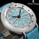 最高級の輝き CZクリスタル1000個使用 文字盤回転 ジュエリーウォッチ 腕時計 エイ革ベルト バヴェウォッチ キラキラ 豪華 ゴージャス メンズ レディース