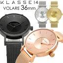 エントリーで最大P4倍 KLASSE14 クラス14 腕時計 レディース 36mm メタルメッシュベルト ローズゴールド シルバー VOLARE 人気 ブランド...