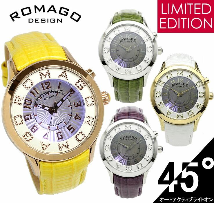 【エントリーでP最大4倍】【限定モデル】【ROMAGO】 ロマゴ デザイン 腕時計 レディース ミラーウォッチ 雑誌掲載 本革レザー RM067-0612ST うでどけい ウォッチ