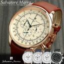 サルバトーレマーラ 腕時計 ウォッチ メンズ クロノグラフ クロノ 革ベルト レザー メンズ ブランド ランキング 腕時計 レトロ クラシック ウォッチ MEN 039 S 多針アナログ 腕時計 就職祝い バレンタイン
