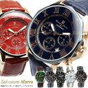 【Salvatore Marra】 サルバトーレマーラ 腕時計 メンズ クロノグラフ 10気圧防水 コンビベルト SM15104 限定モデル 人気 ブランド ウォッチ 父の日 ギフト プレゼント