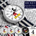 【ミッキーマウス】 腕時計 スワロフスキー NATOベルト ナイロン Mickey Mouse ディズニー レディース メンズ ユニセックス 男女兼用 NFC1500 キャラクター ウォッチ ミッキー うでどけい 【Disney】【Disneyzone】