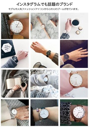 【送料無料】【3年保証】【100%本物保証】CLUSE クルース 腕時計 レディース 革ベルト レザー ウォッチ ローズゴールド グレー ホワイト ブランド 人気 ランキング シンプル 日本製クォーツ 38mm