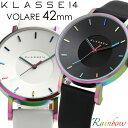 KLASSE14 クラス14 腕時計 メンズ 42mm 革ベルト レザー レインボー ブラック VOLARE クラスフォーティーン 人気 ブランド ウォッチ