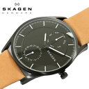 【スカーゲン SKAGEN】 腕時計 HOLST ホルスト マルチファンクション メンズ ステンレス レザーベルト ミネラルガラス クオーツ 5気圧防水 ラウンド型 SKW6265 ウォッチ うでとけい