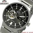 【送料無料】ORIENT オリエント 腕時計 ウォッチ メンズ made in japan 自動巻き オートマチック ガンメタブラック 5気圧防水 シースルーバック オープンハート wv0391db