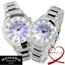 【送料無料】【ROMAGO】 ロマゴ ペアウォッチ 2本セット 腕時計 クオーツ ミラーウォッチ RM015-0162SS-SVWH RM067-0162SS-SVWH
