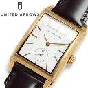 【UNITED ARROWS】 ユナイテッドアローズ 腕時計 ユニセックス ウォッチ コードバン 馬革 クラシック レクタンギュラー 男女兼用 UA3703-04