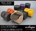 ミラグロ ネクタイ 収納 牛革 レザー ネクタイケース