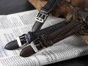 本革腕時計バンド カーフ型押しクロコレッグ 腕時計ベルト 腕時計用 替えベルト 牛革バンド カーフ腕時計バンド 牛革ベルト カーフベルト レザーベルトウォッチ うでどけい