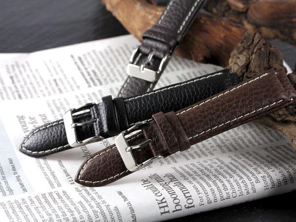 本革腕時計バンド カーフシュリンクステッチ 腕時計ベルト 腕時計用 替えベルト 牛革バンド カーフ腕時計バンド 牛革ベルト カーフベルト レザーベルトウォッチ うでどけい【20mm,22mm】