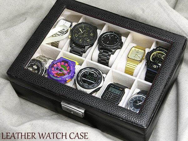 腕時計ケース ウォッチケース 収納ケース 時計ケース コレクションケース 本革 レザー ボ…...:cameron:10002074