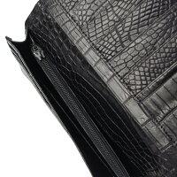 クロコダイル高級皮革財布長財布【小銭入れあり】CRO-1ブラックメンズ/レディースあす楽対応02P09Jan16