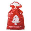 クリスマス リボン付きバッグ【XL】プレゼント用ギフト袋【メール便可】【返品・キャンセル不可】ch