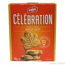 ショッピングクリーム セレブレーション メープルリーフクッキー 350g 24枚 1箱 お土産袋付 レクラーク ブランド メープルの風味豊なクリームがサンドされています。 カナダみやげsv