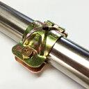 【単クランプ】38mm 金物 単管パイプクランプ パイプ車庫 倉庫 ビニールパイプハウス 補強 園芸 ガーデニング 支柱 家庭菜園 施設栽培 パーゴラ 棚作りなどに 38mm(34〜38)パイプ兼用 クランプ パイプクランプ DIY