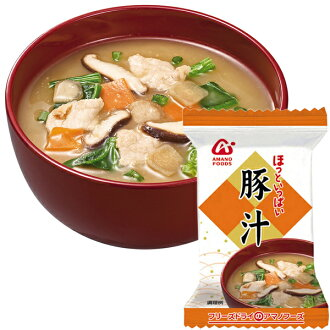 8.5 g of ten *2 pork miso soup treasuring [miso soup set instant miso soup pork miso soup] relievedly a lot of Amano foods freeze dry