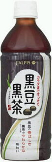 500 ml of 24 Calpis black soybean dark brown pet Motoiri [black soybean tea]