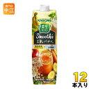 カゴメ 野菜生活100 スムージー 豆乳バナナミックス 1000g紙パック 12本 (6本入×2 まとめ買い) 野菜ジュース