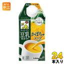 キッコーマン 豆乳仕立てのかぼちゃスープ 500ml 紙パック 24本 (12本入×2 まとめ買い)〔豆乳〕