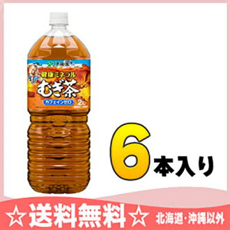 Japanese wisteria garden health mineral mugicha 2 L pet 6 pieces [natural mineral mugicha むぎちゃ barley tea bottles]