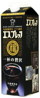 6 1,000 ml of luxurious 1L pack Motoiri [iced coffee liquid slight sugar] of one cup of Marufuku coffee shop ice coffee espresso