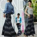 【エックス★プリントスカート】 フェアアイル 古典模様 中厚地 90cm丈 かわいい♪