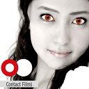 ContactFilms(コンタクトフィルム) 度あり マンスリー 1ヵ月 1箱1枚入(片目分) 全2色 DIA14.0mm カラコン レッ...